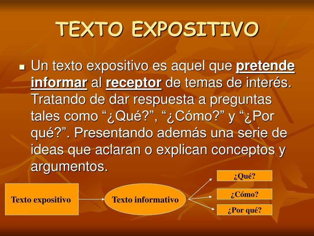 Ppt Texto Expositivo Powerpoint Presentation Free
