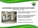 geothermal ground source heat pumps for heating as well as cooling
