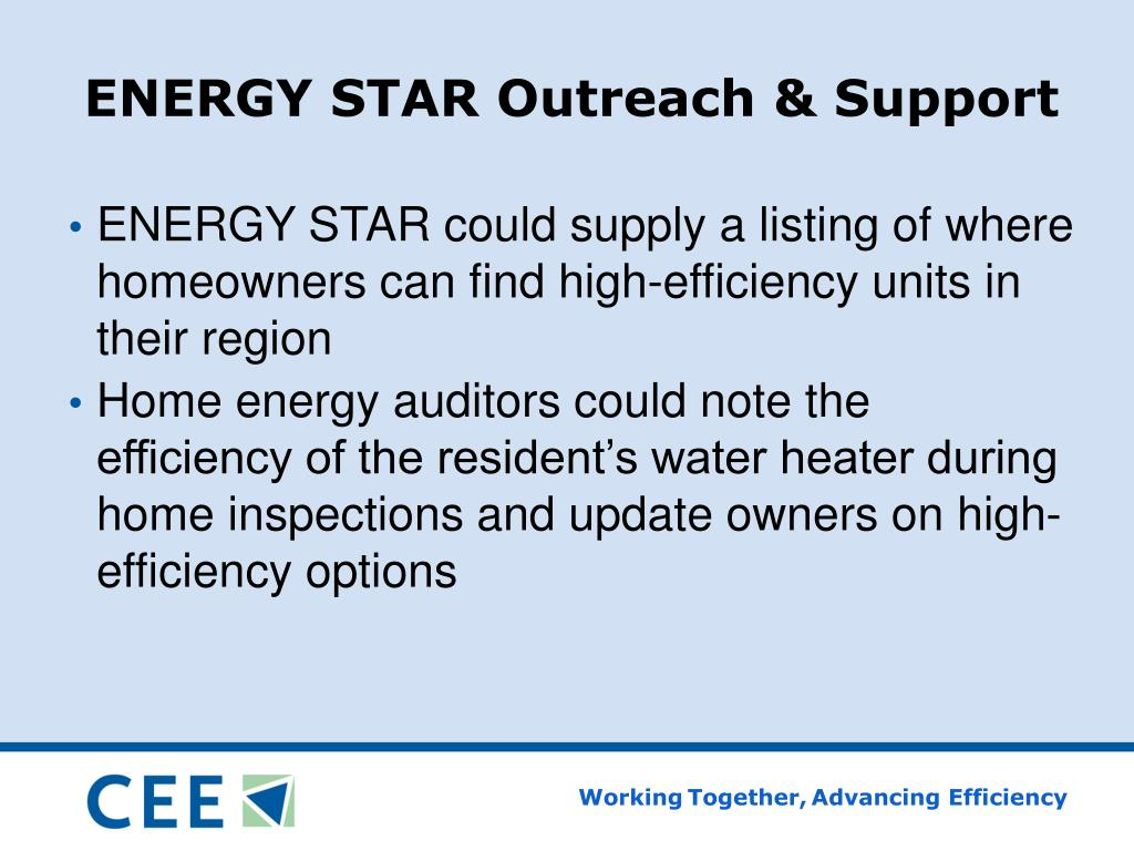 ENERGY STAR Outreach & Support