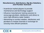 manufacturers distributors big box retailers and plumber outreach