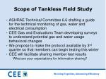 scope of tankless field study