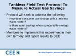 tankless field test protocol to measure actual gas savings