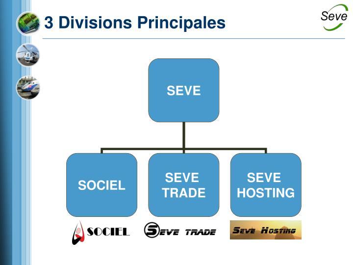 3 Divisions Principales