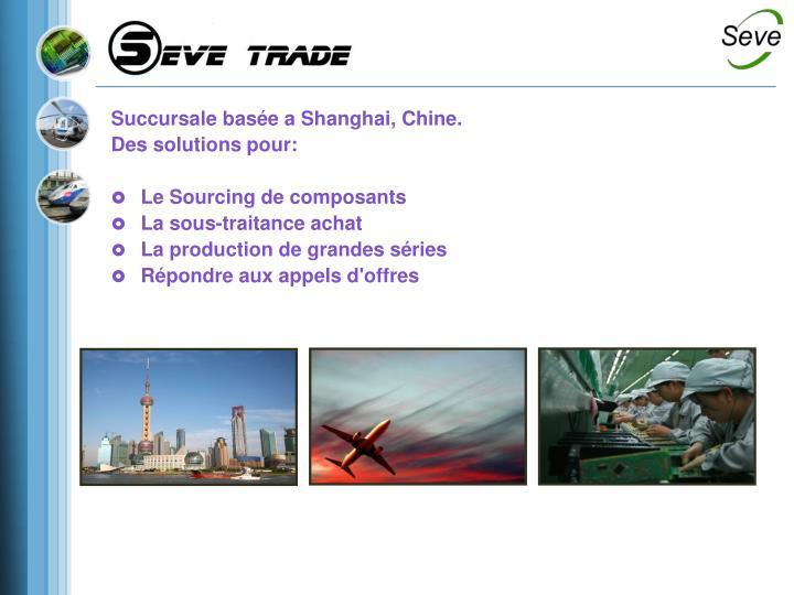 Succursale basée a Shanghai, Chine.