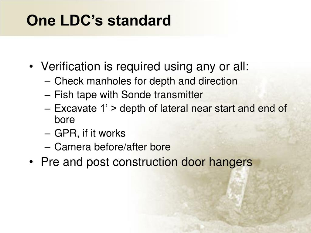 One LDC's standard