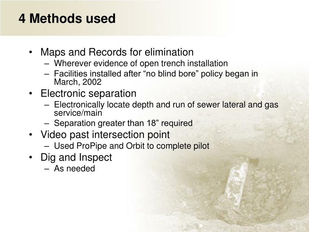 4 Methods used