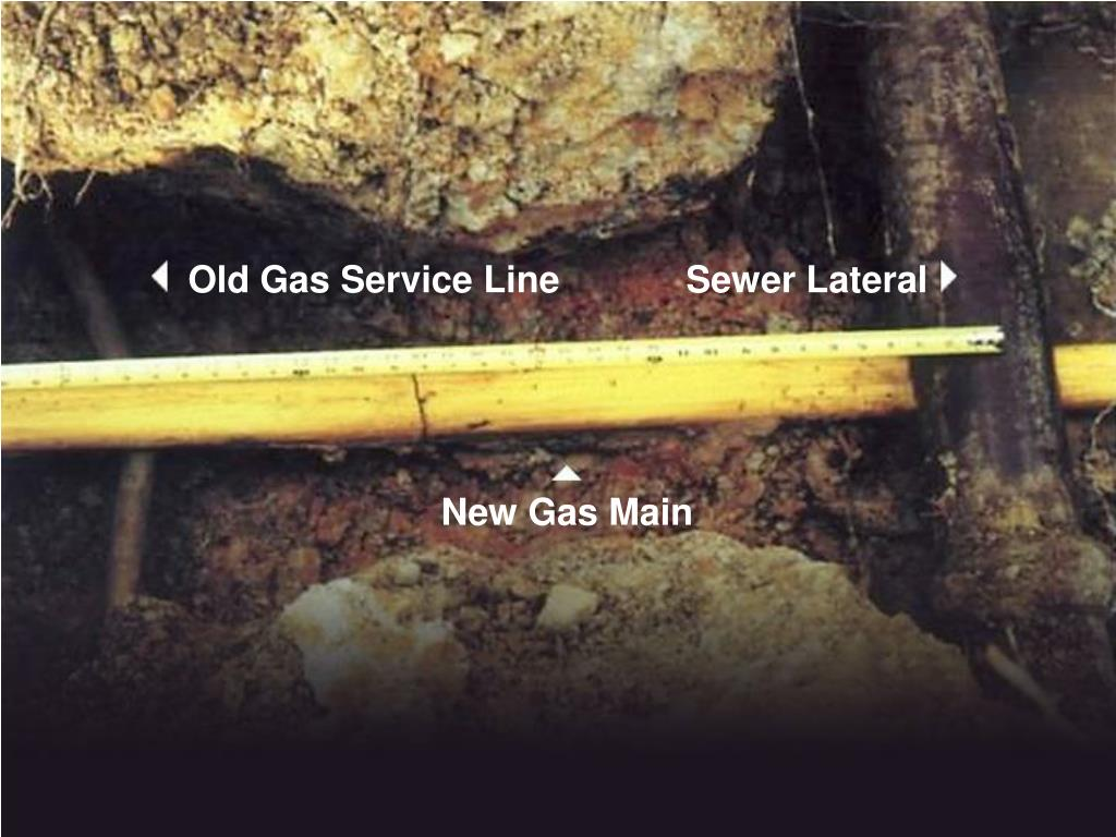 Old Gas Service Line
