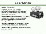boiler section