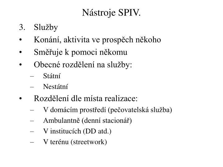 Nástroje SPIV.