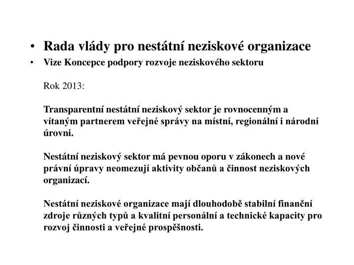 Rada vlády pro nestátní neziskové organizace