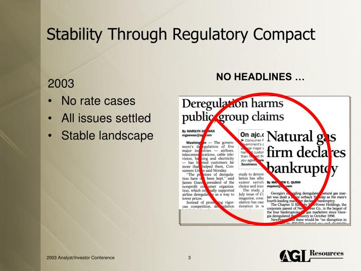 Stability through regulatory compact