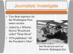 journalists investigate