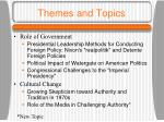 themes and topics