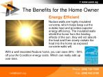 the benefits for the home owner36