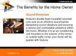the benefits for the home owner37