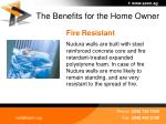 the benefits for the home owner38