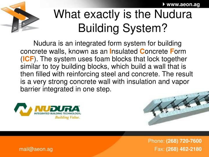 What exactly is the nudura building system