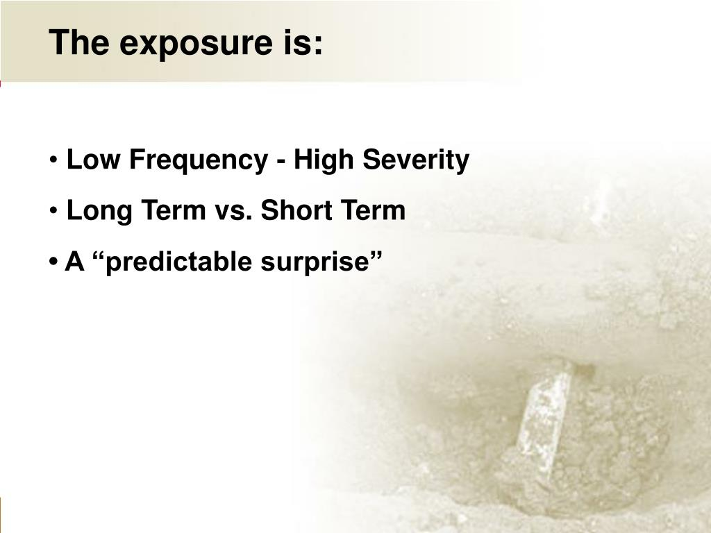 The exposure is: