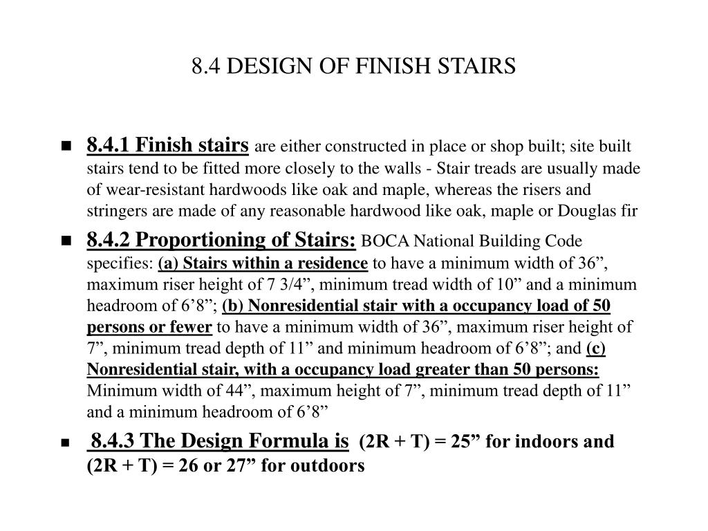 8.4 DESIGN OF FINISH STAIRS