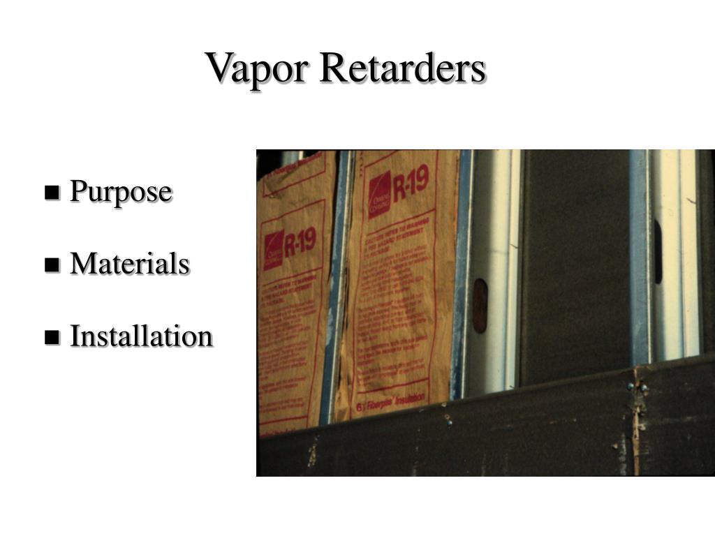 Vapor Retarders