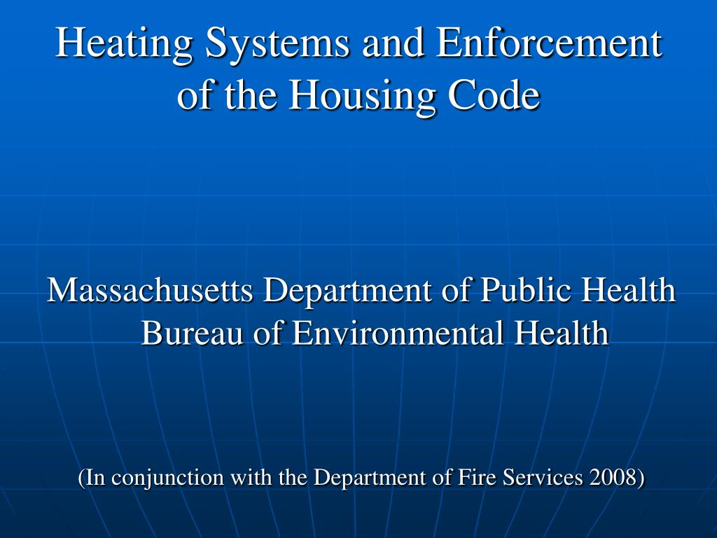 Heating Systems and Enforcement of the Housing Code