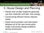 3 house design and planning