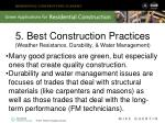 5 best construction practices weather resistance durability water management