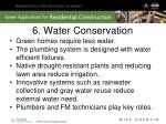 6 water conservation