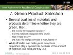 7 green product selection
