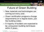 future of green building