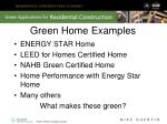 green home examples