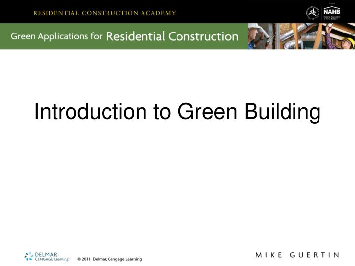 introduction to green building n.