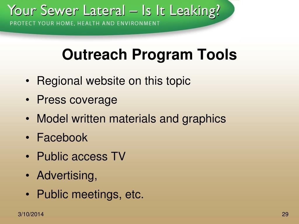 Outreach Program Tools