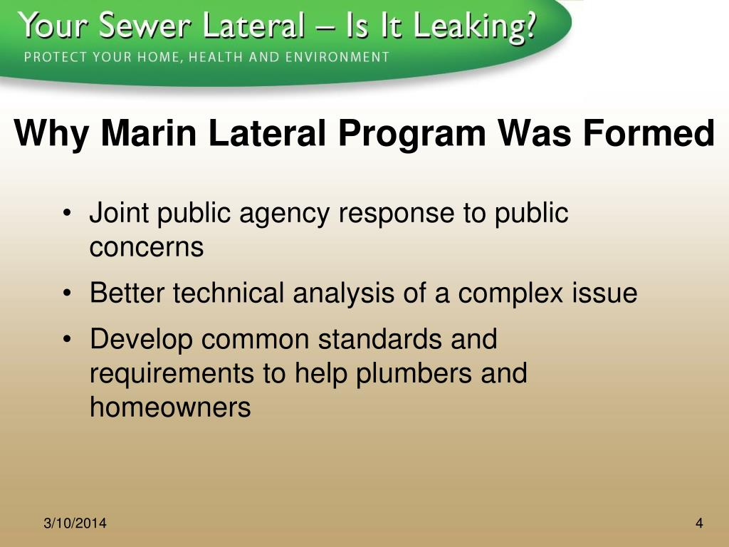 Why Marin Lateral Program Was Formed