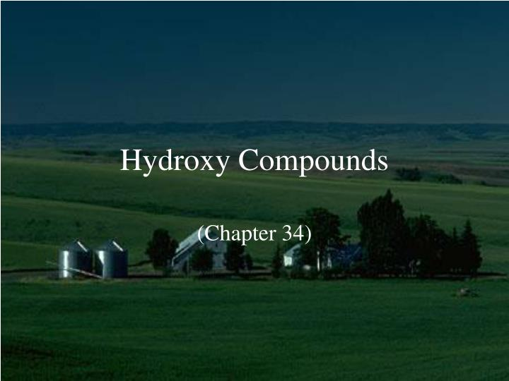 hydroxy compounds n.