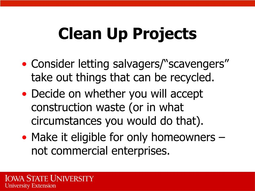 Clean Up Projects