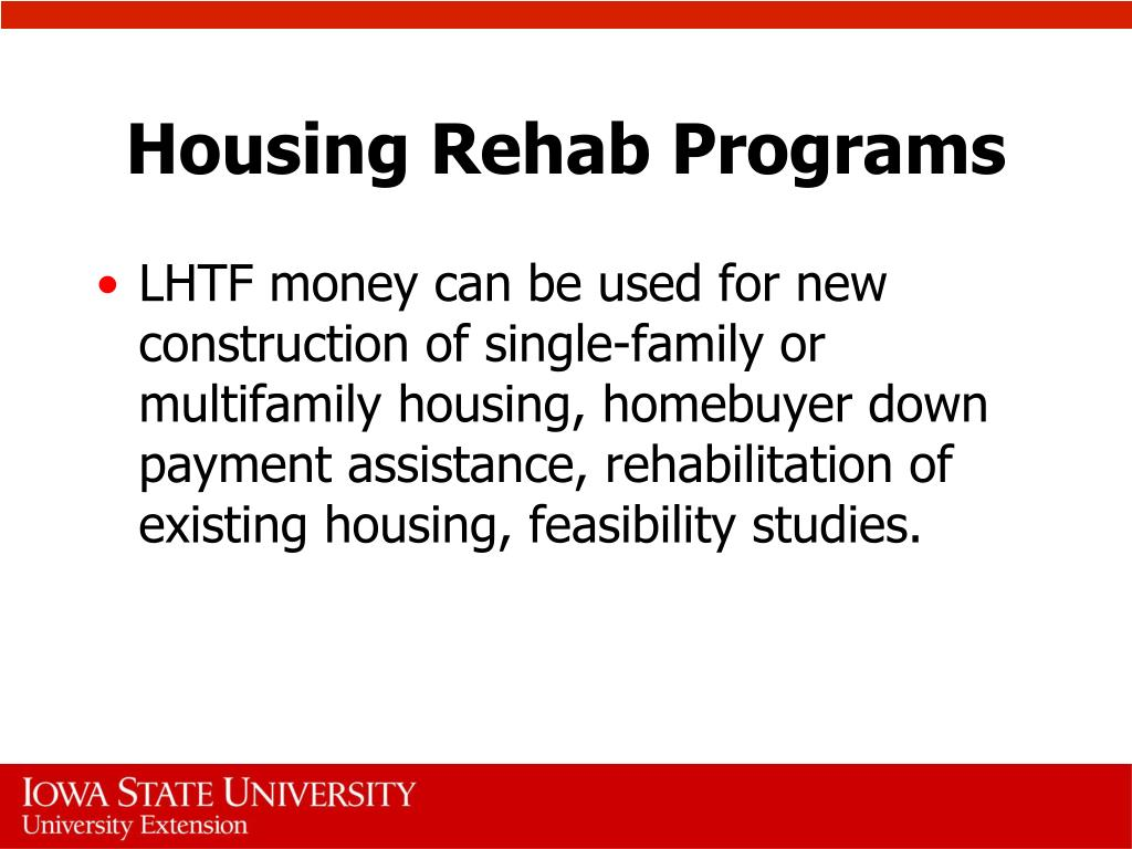 Housing Rehab Programs