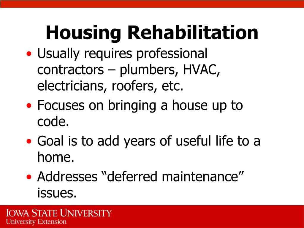 Housing Rehabilitation