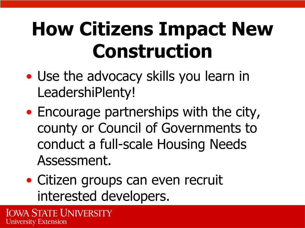 How Citizens Impact New Construction