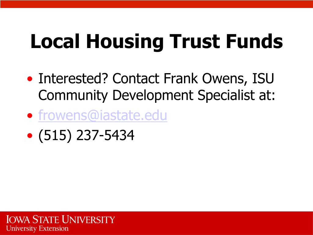 Local Housing Trust Funds