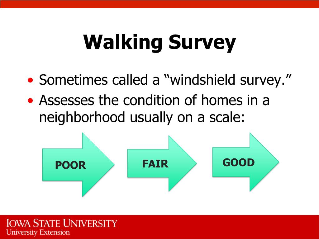 Walking Survey