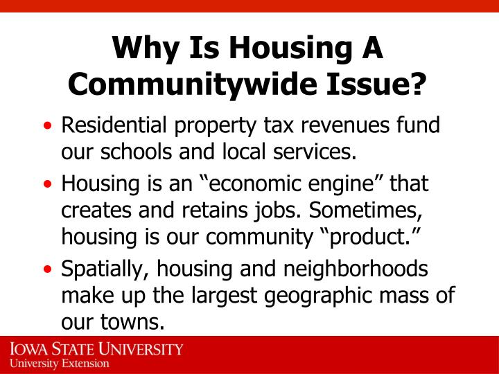 Why is housing a communitywide issue