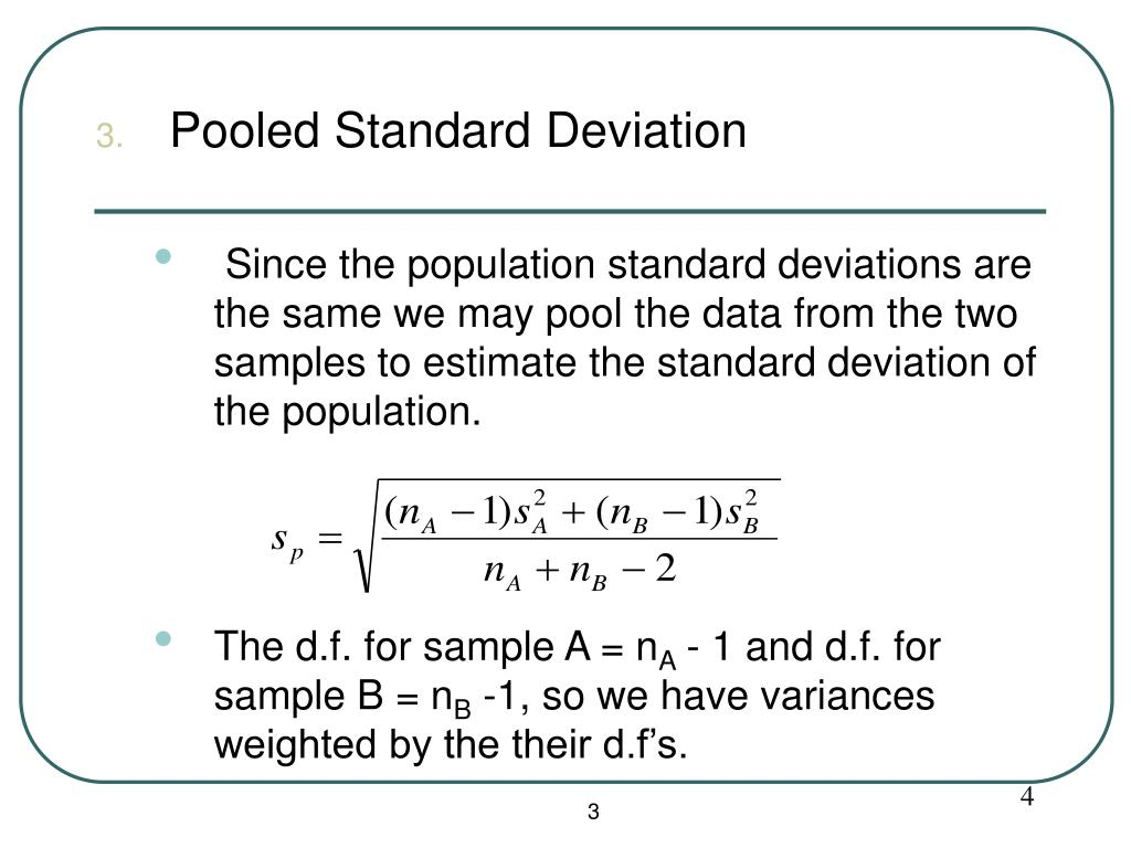 Pooled Standard Deviation