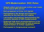 gps modernization doc roles