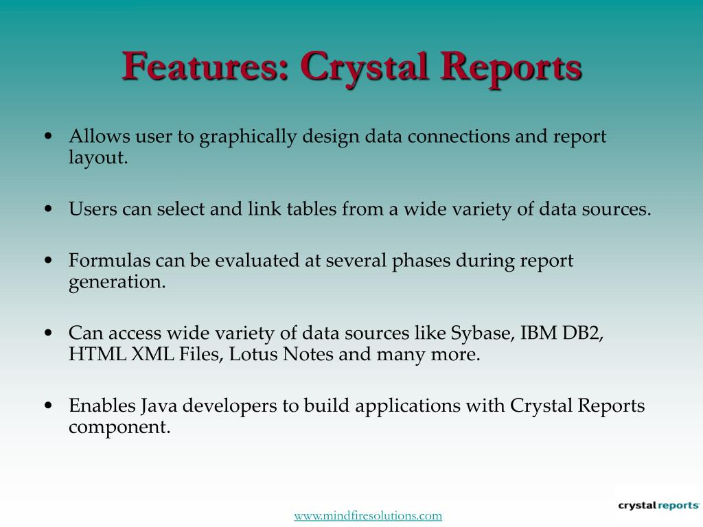 Features: Crystal Reports