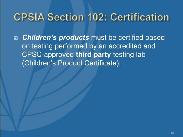Ppt Us Consumer Product Safety Commission Us Regulation Of