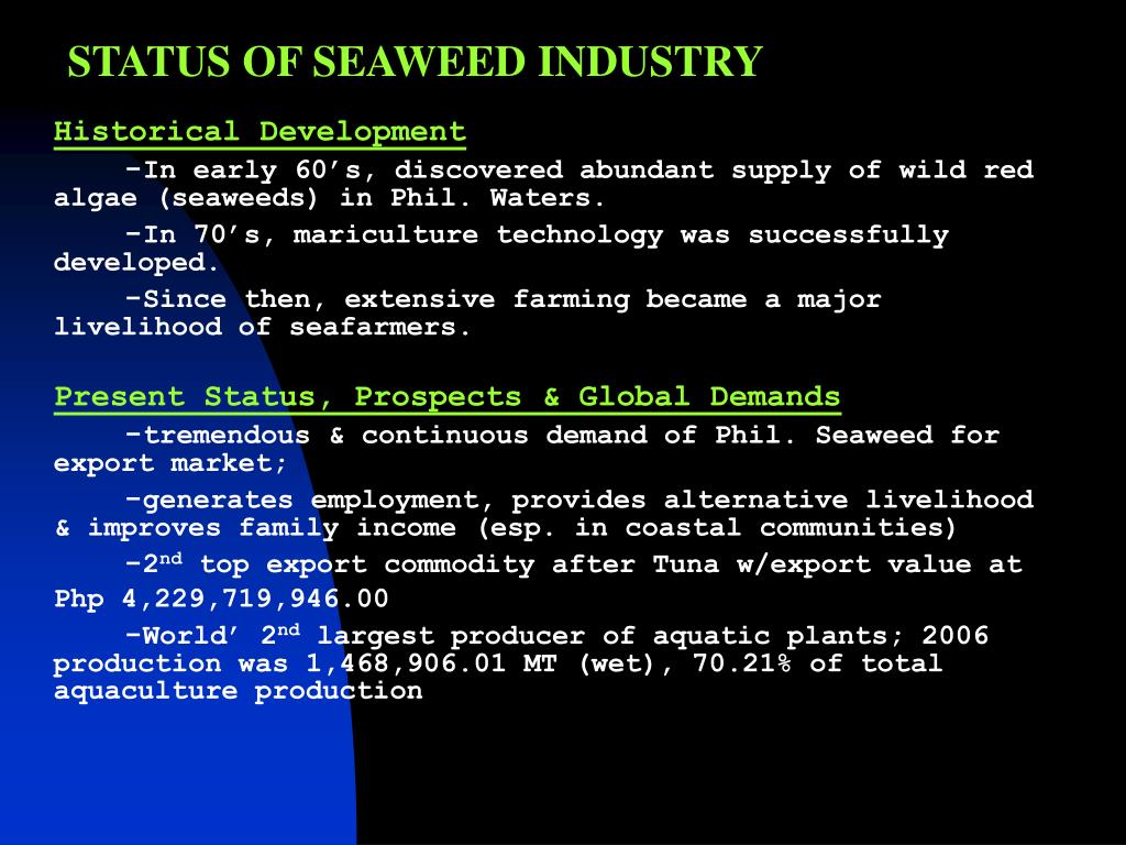 PPT - SEAWEED FARMING PowerPoint Presentation - ID:1159233