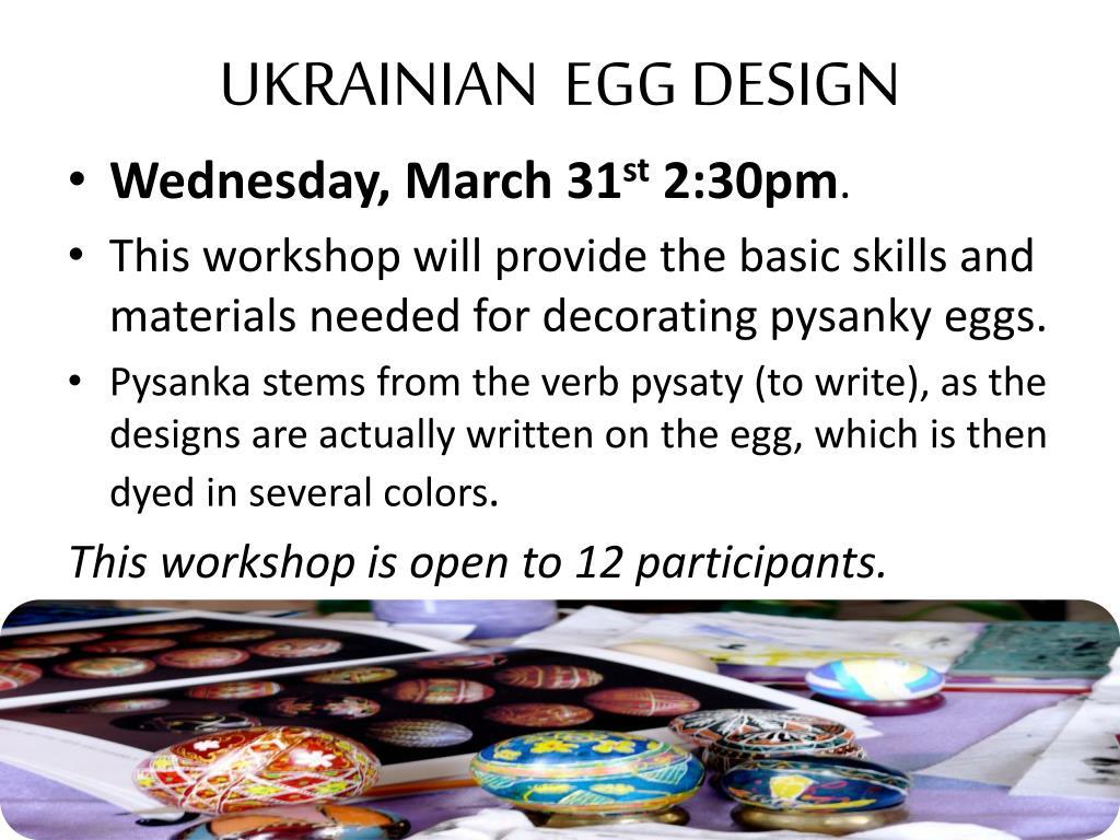 UKRAINIAN  EGG DESIGN