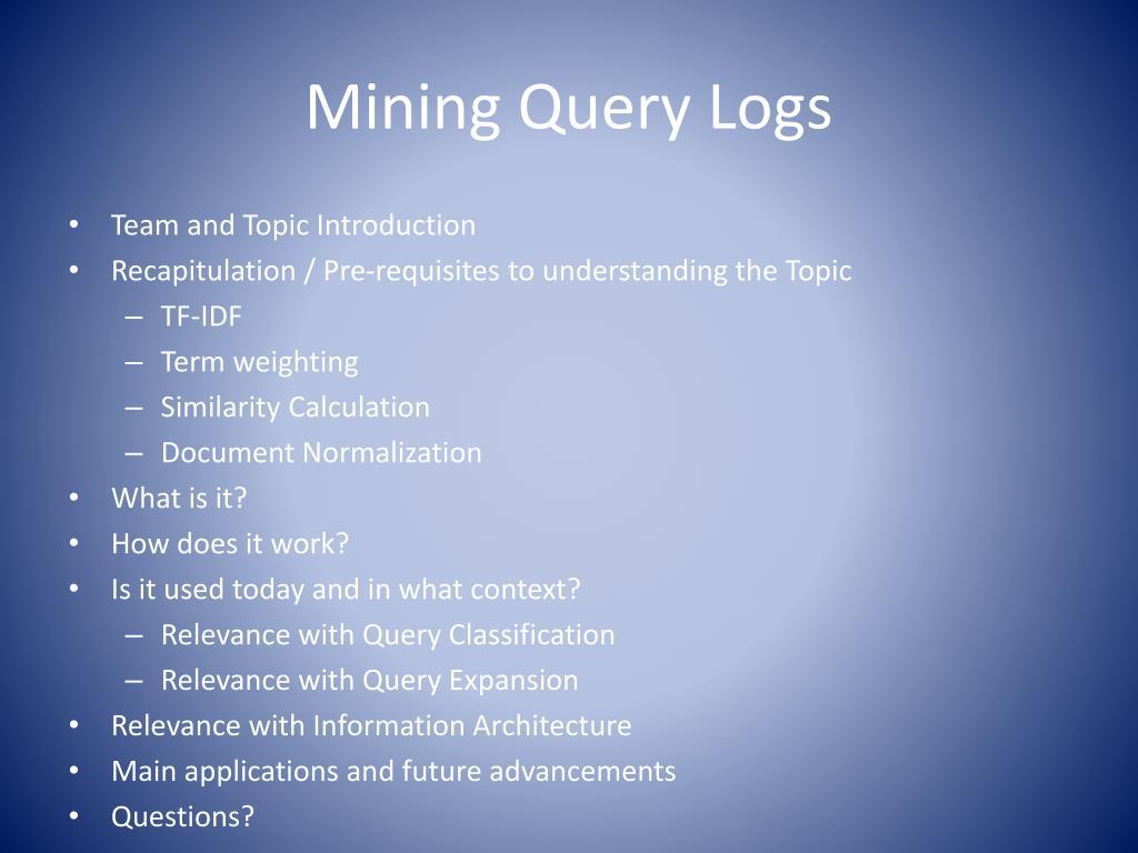 mining query logs l.