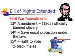 bill of rights extended